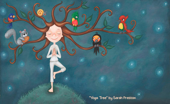 Infancia y Educación. Yoga-tree-by-by-Sarah-Preston